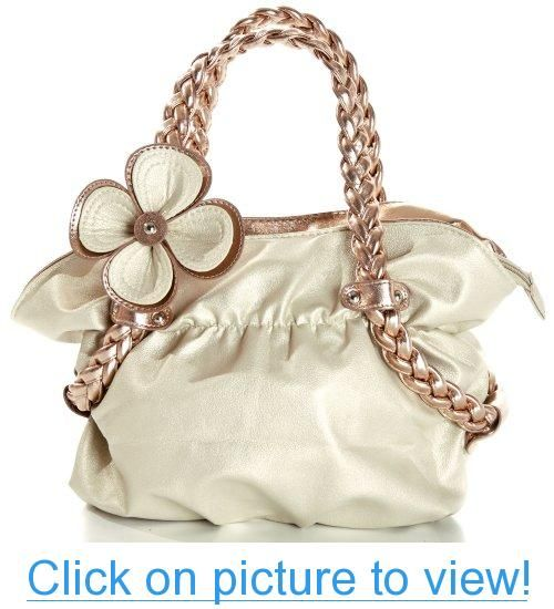 MG Collection CANDICE Flower Soft Metallic Weaved Handle Hobo Handbag #MG #Collection #CANDICE #Flower #Soft #Metallic #Weaved #Handle #Hobo #Handbag