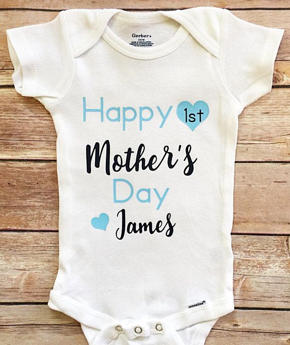 948535d5e 1st Mothers Day Baby Boy Outfit, First Mother's Day Onesie ® ,Newborn  Onesie® Baby Shower Gift, Baby
