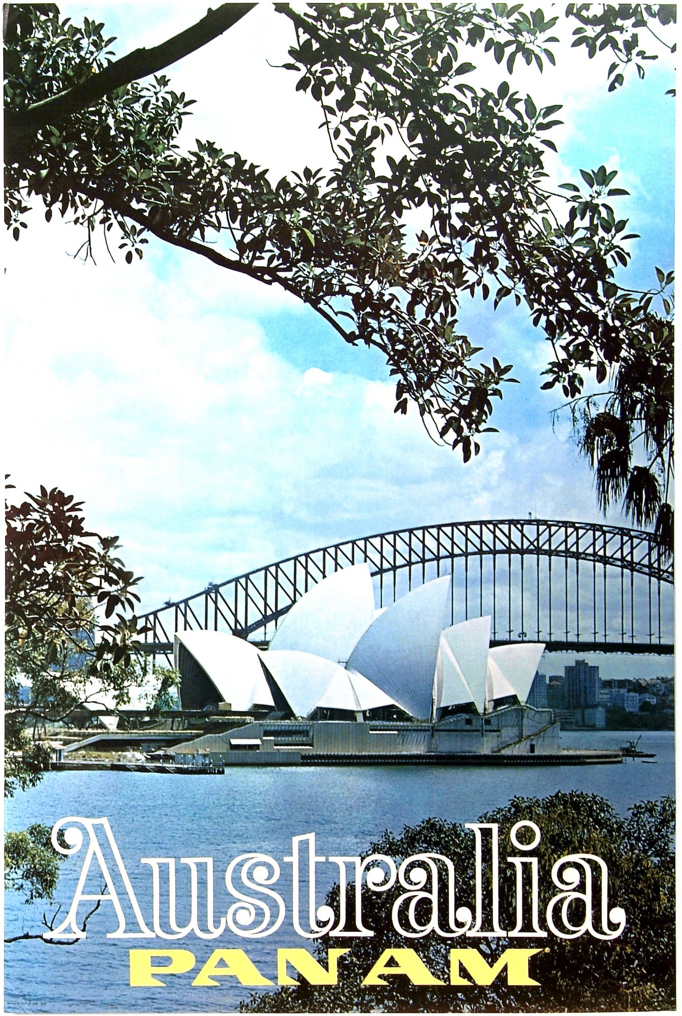 Australia Sydney Pan Am Travel Posters