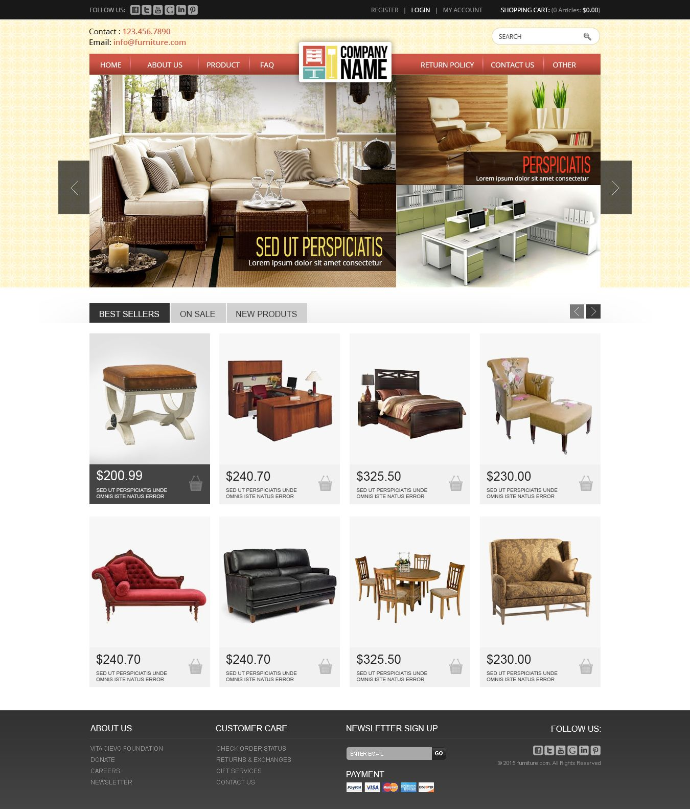E Commerce Website Of Furniure Furniure Home Best Sellers