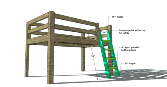 Free Woodworking Plans To Build A Twin Low Loft Bunk Bed The Design Confidential Bed Woodworking Plans Loft Bed Plans Woodworking Plans Free