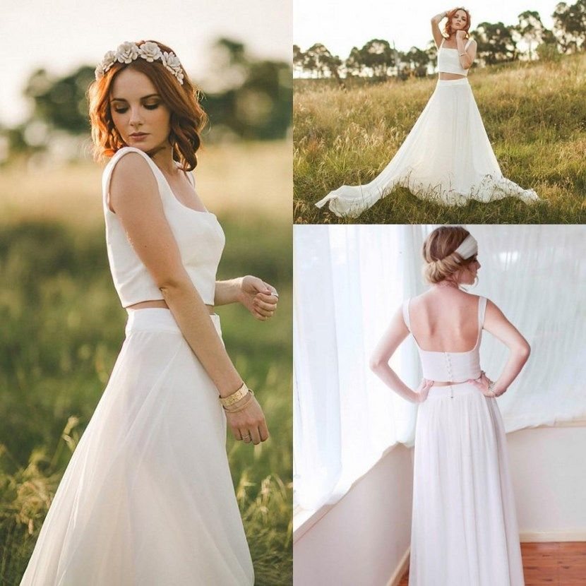 Vestidos de novia de dos piezas, tendencia 2016 | Vestido de novia ...