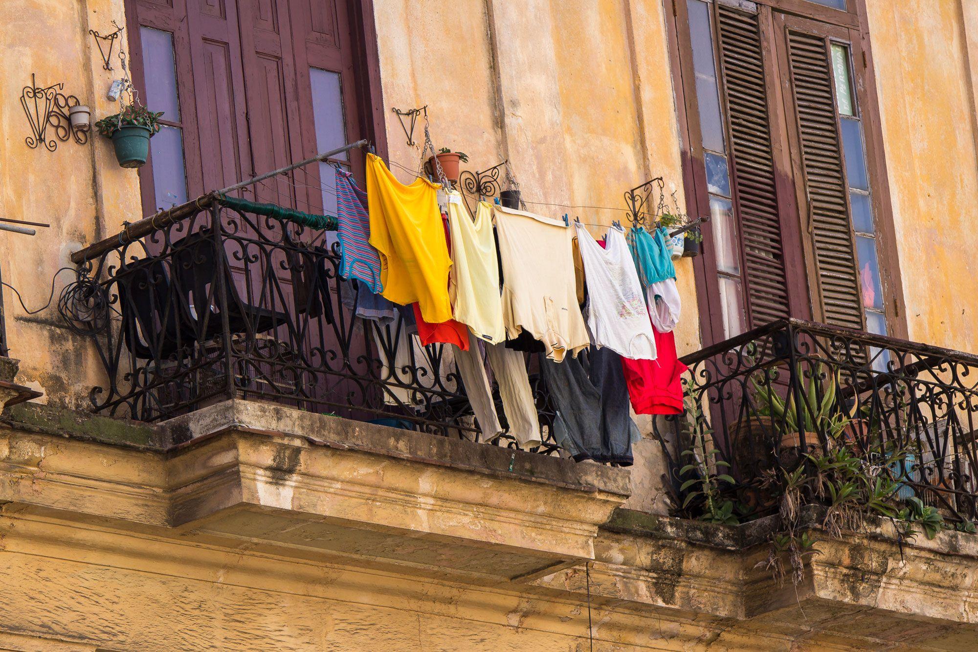 Laundry hanging in Havana