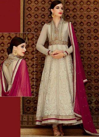 8bb507782a Purple Grey Embroidery Work Brasso Net Long Anarkali Salwar Suit http://www.