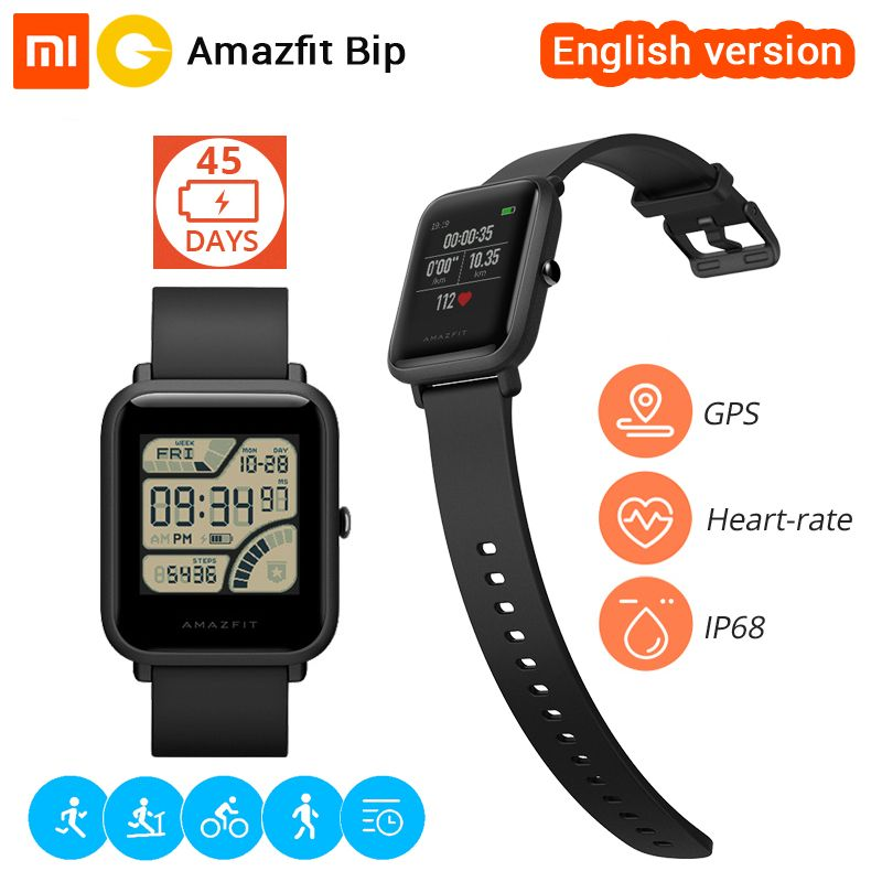 Xiaomi Huami Amazfit Bip Smart Watch English Version Smartwatch Pace Lite Bluetooth 4 0 Gps Heart Rate 45 Days Battery Ip68 Smart Watch Smart Watch Price Wearable Device