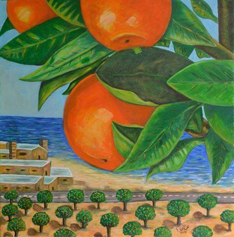 برتقال يافا لوحة للفنان التشكيلي محمد الكرنز Art Art Works Painting