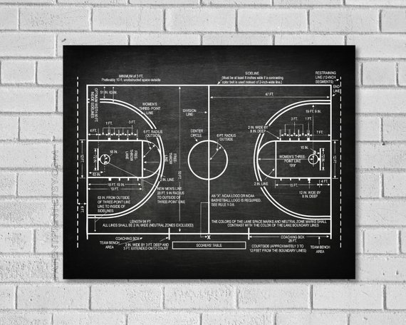 Basketball Coach Gift Basketball Decor Basketball Poster