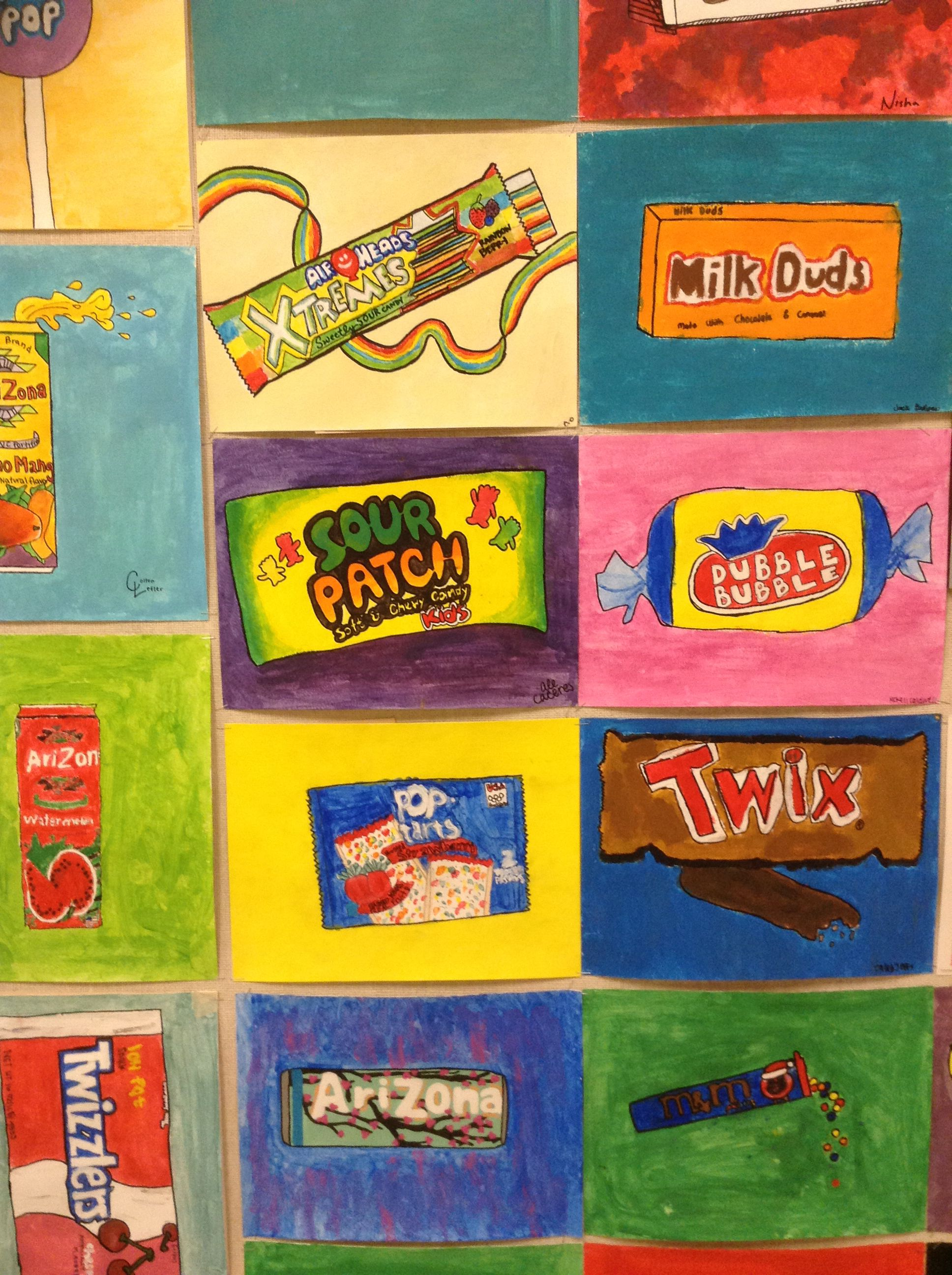 Middle School Sweet Pop Art This Was One Of Their