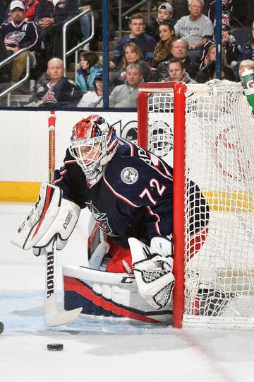 COLUMBUS, OH - FEBRUARY 4: Goaltender Sergei Bobrovsky #72 of the Columbus Blue Jackets defends the net against the New Jersey Devils on February 4, 2017 at Nationwide Arena in Columbus, Ohio. (Photo by Jamie Sabau/NHLI via Getty Images)