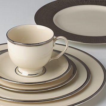 Tuxedo Platinum 5-piece Dinnerware Place Setting by Lenox | House N Hobbies
