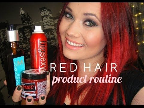 Red Hair Routine Shampoo Conditioner Maintenence With Images
