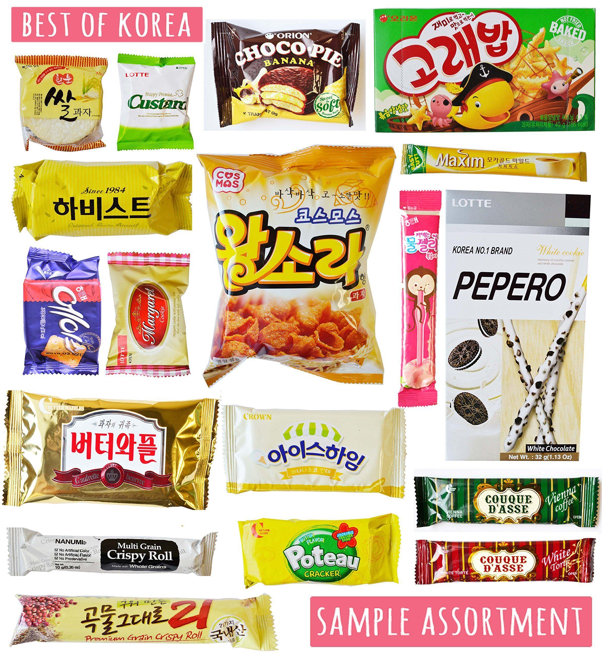 Korean Classic Candy Cookies and Korean Snacks 18 Packs