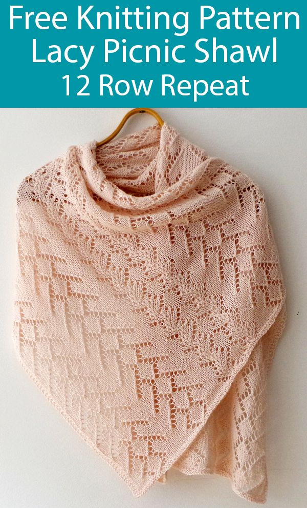 Photo of Free Knitting Pattern for Lacy Picnic Shawl