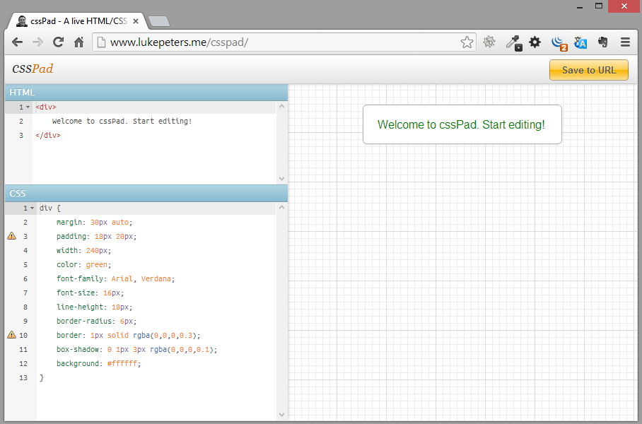 cssPad A live HTML/CSS editor for rapid style protyping