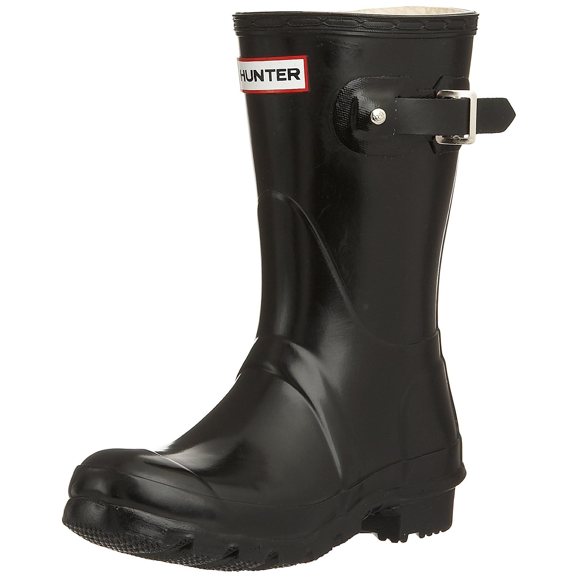 Buy Women Shoes / Hunter Original Black Gloss Short Wellington Boots