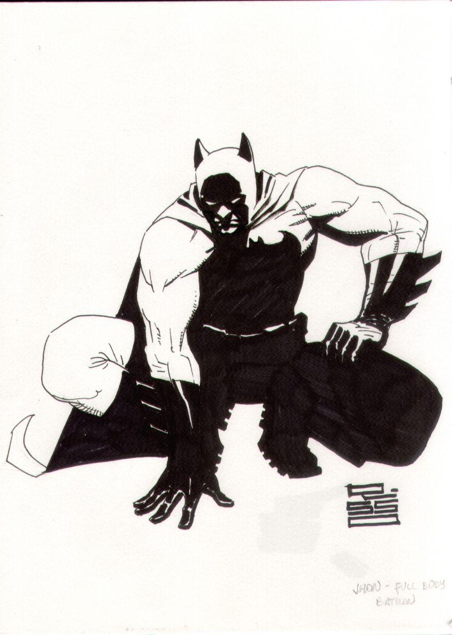 Eduardo Risso Batman full figure con sketch at Big Wow 2013 Comic Art