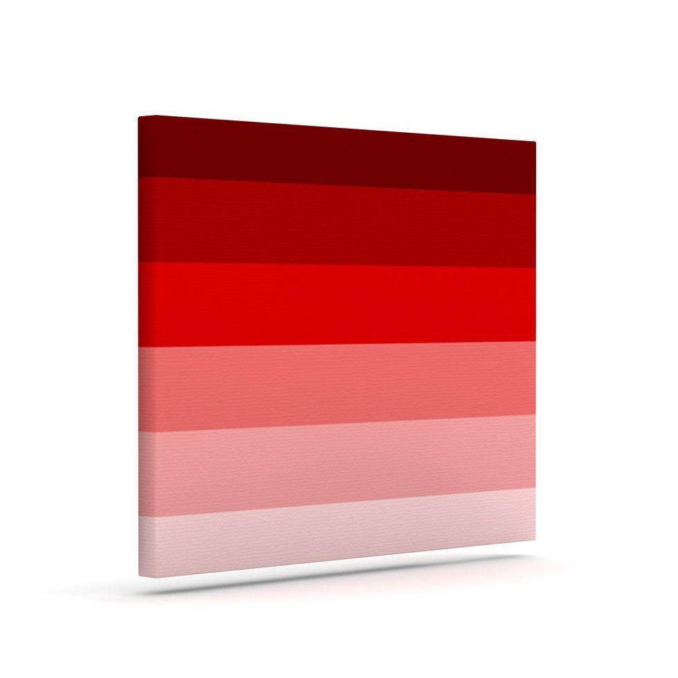 "Trebam ""Nastati"" Red Pink Outdoor Canvas Art"