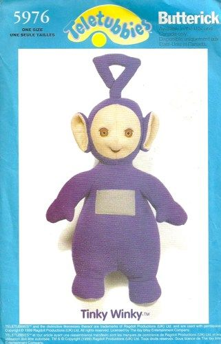 Butterick 5976 Tinky Winky Teletubbies Doll Sewing Pattern Transfer