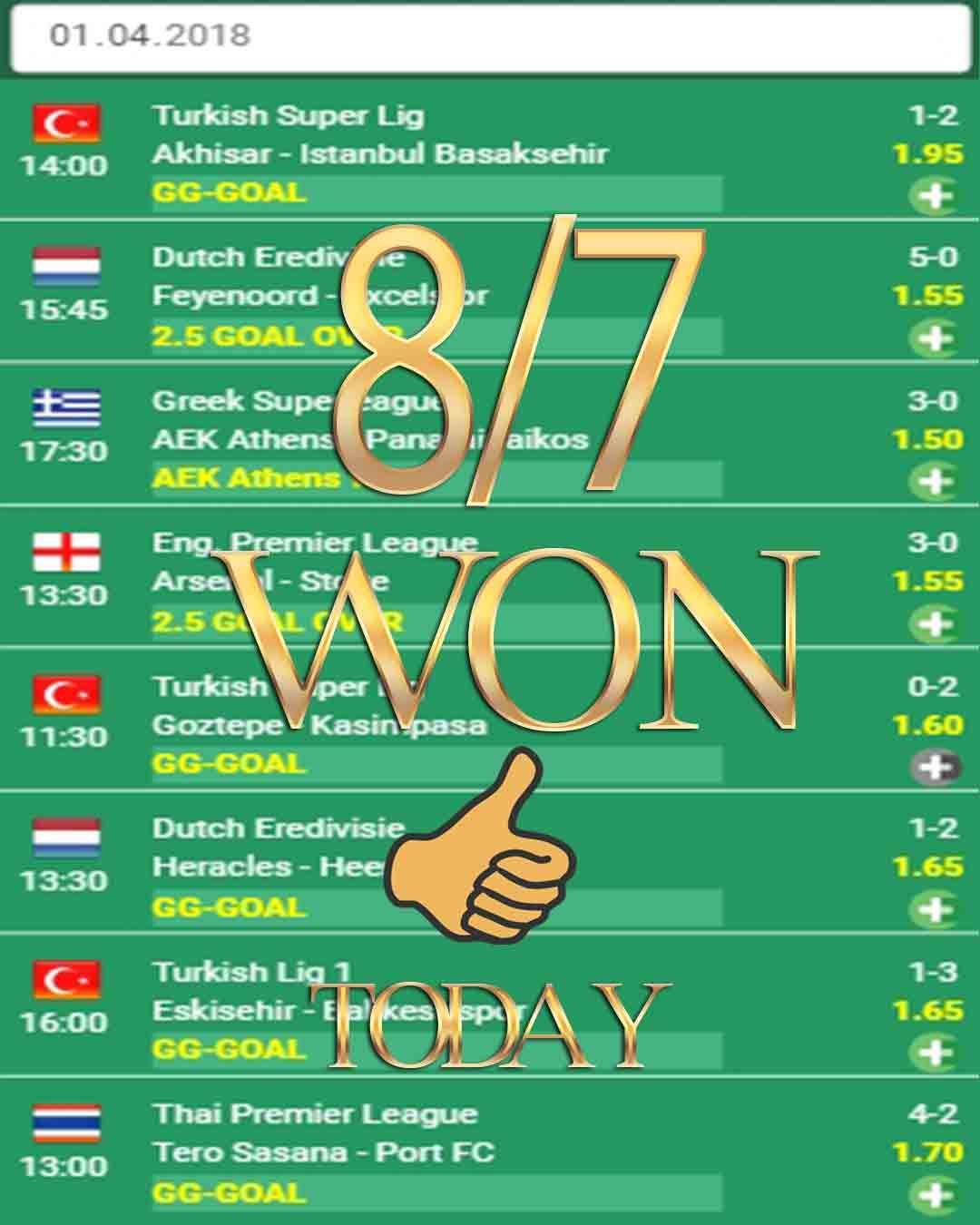 Vip betting odds 8/7 WON - Bets analysis, Betsson, Football