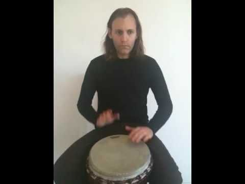 Djembe Lesson - 3/4 roll over 4/4 rhythm - YouTube
