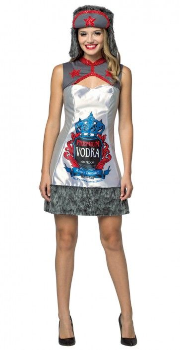 f64f6a9c579 Vodka Bottle dress with a Russian flare. 2017 Halloween Costume