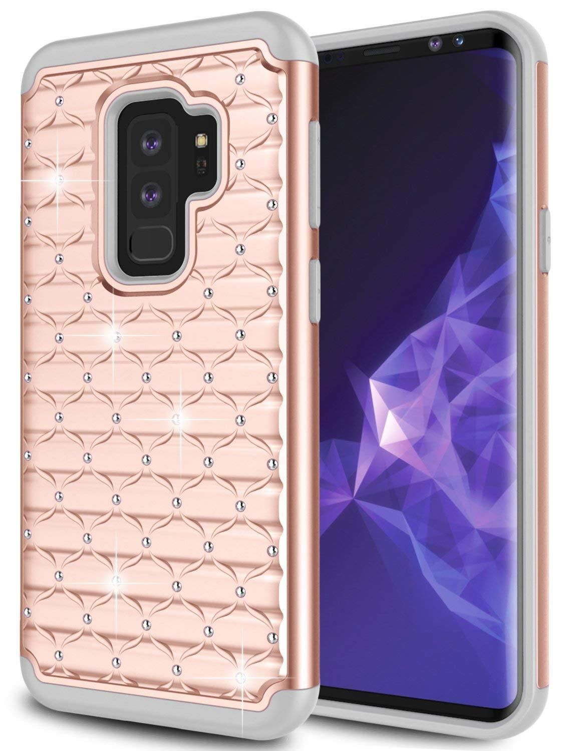 Samsung Galaxy S9 Plus Luxury Glitter Bling Shockproof Protective Case Rose Gold Galaxy S9 Plus Bling Case Be Phone Cases Samsung Galaxy Samsung Galaxy 9 Case