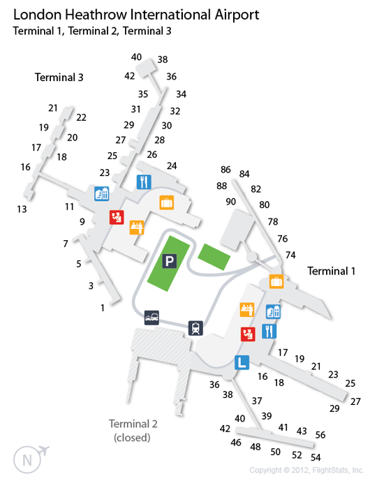 Lhr London Heathrow Airport Terminal Map Airports Heathrow