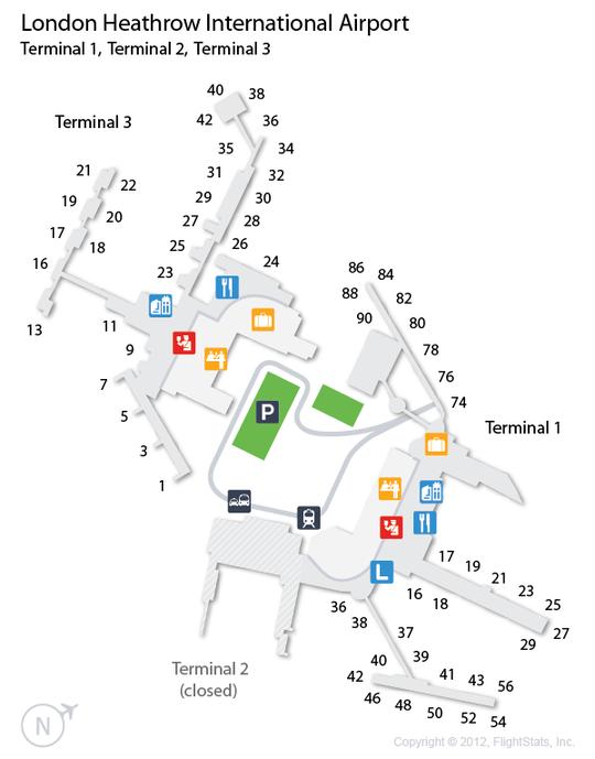 Heathrow Terminal Map : heathrow, terminal, Floor, Heathrow, Terminal