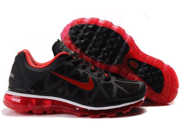 6d526301d0f8 Nike Air Max 2009 Shoes Cool Black Red Mens 90006