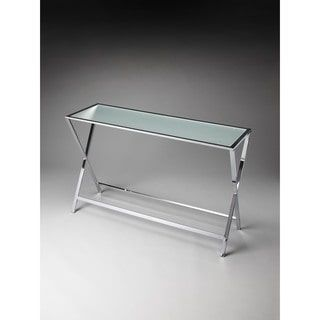 Shop for Butler Bergen Frosted Glass Console Table. Get free delivery at Overstock.com - Your Online Furniture Destination! Get 5% in rewards with Club O! - 18956413