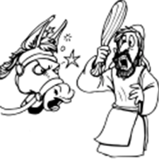 40+ The talking donkey bible story coloring page HD