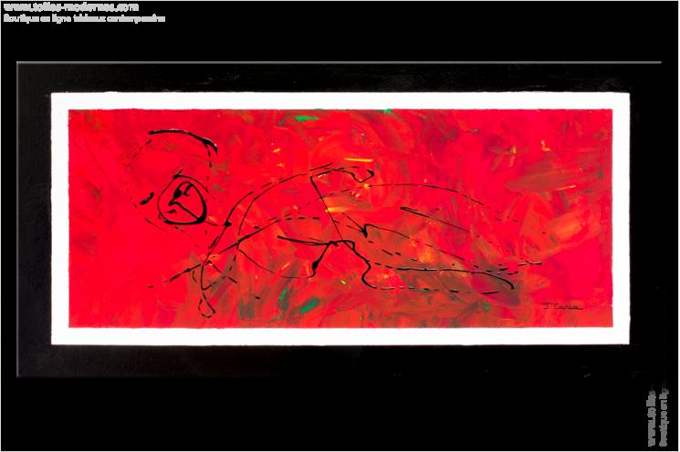tableau abstrait rouge format panoramique conseils maison et objet d co toiles. Black Bedroom Furniture Sets. Home Design Ideas