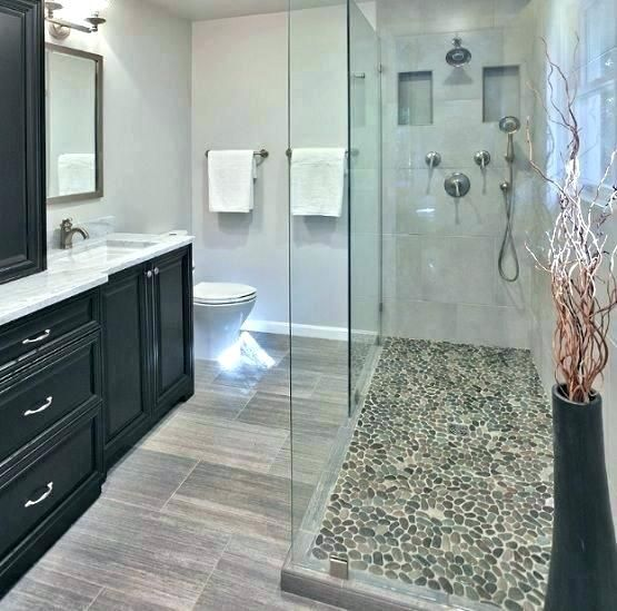 Pebble Tile Shower Floor Ideas Best Stone On In Small Showers S Reviews