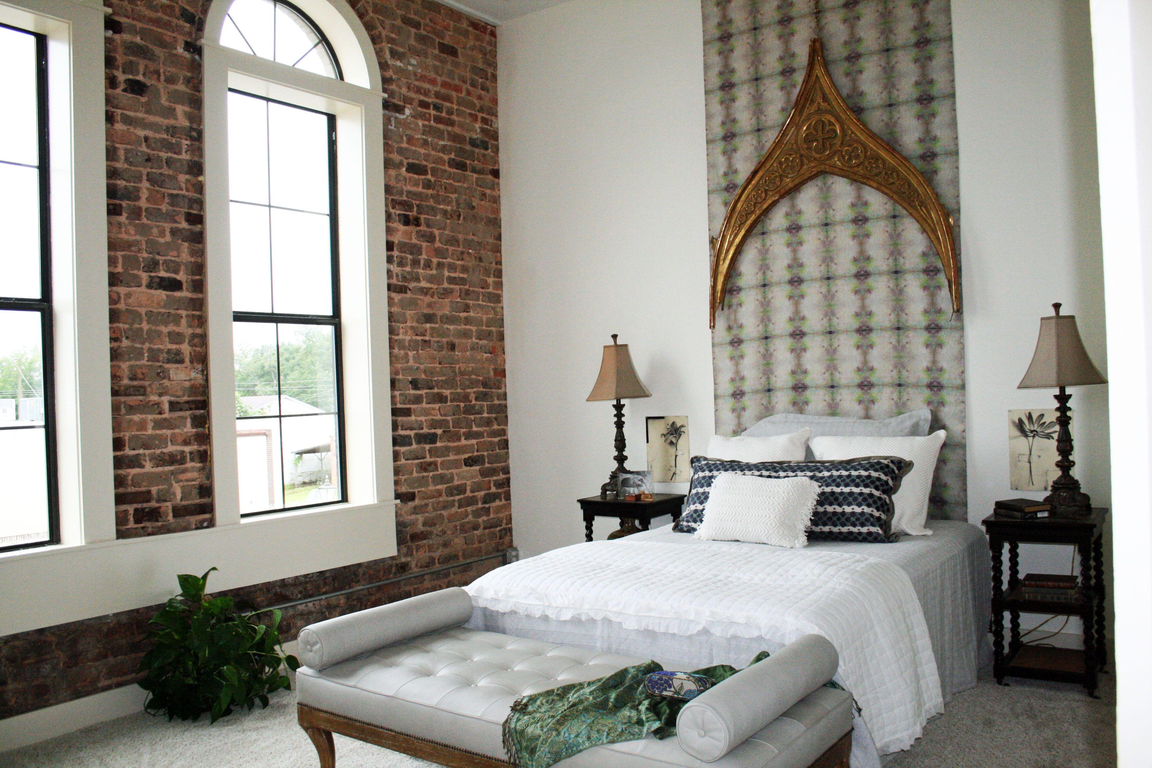 brick wall bedroom decor teenage - Google Search   Loft ...