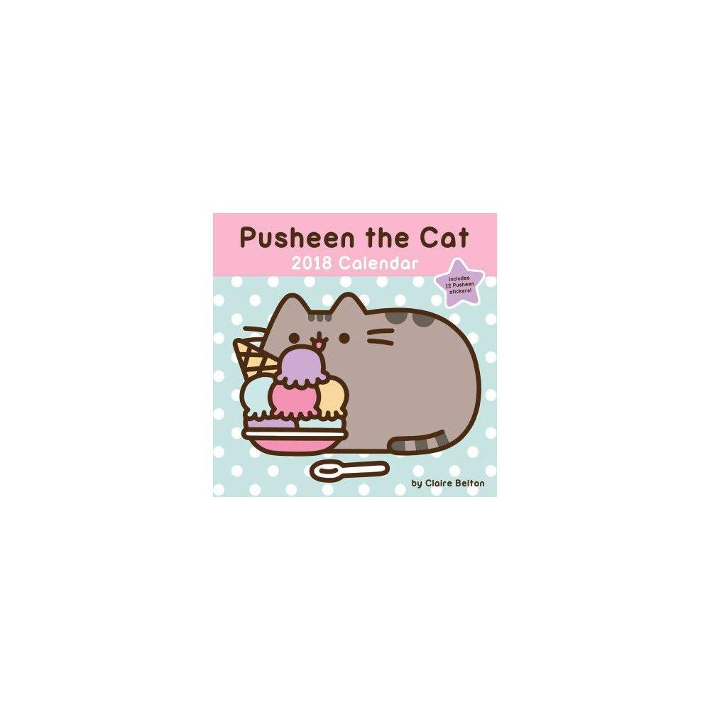 pusheen the cat 2018 calendar paperback claire belton