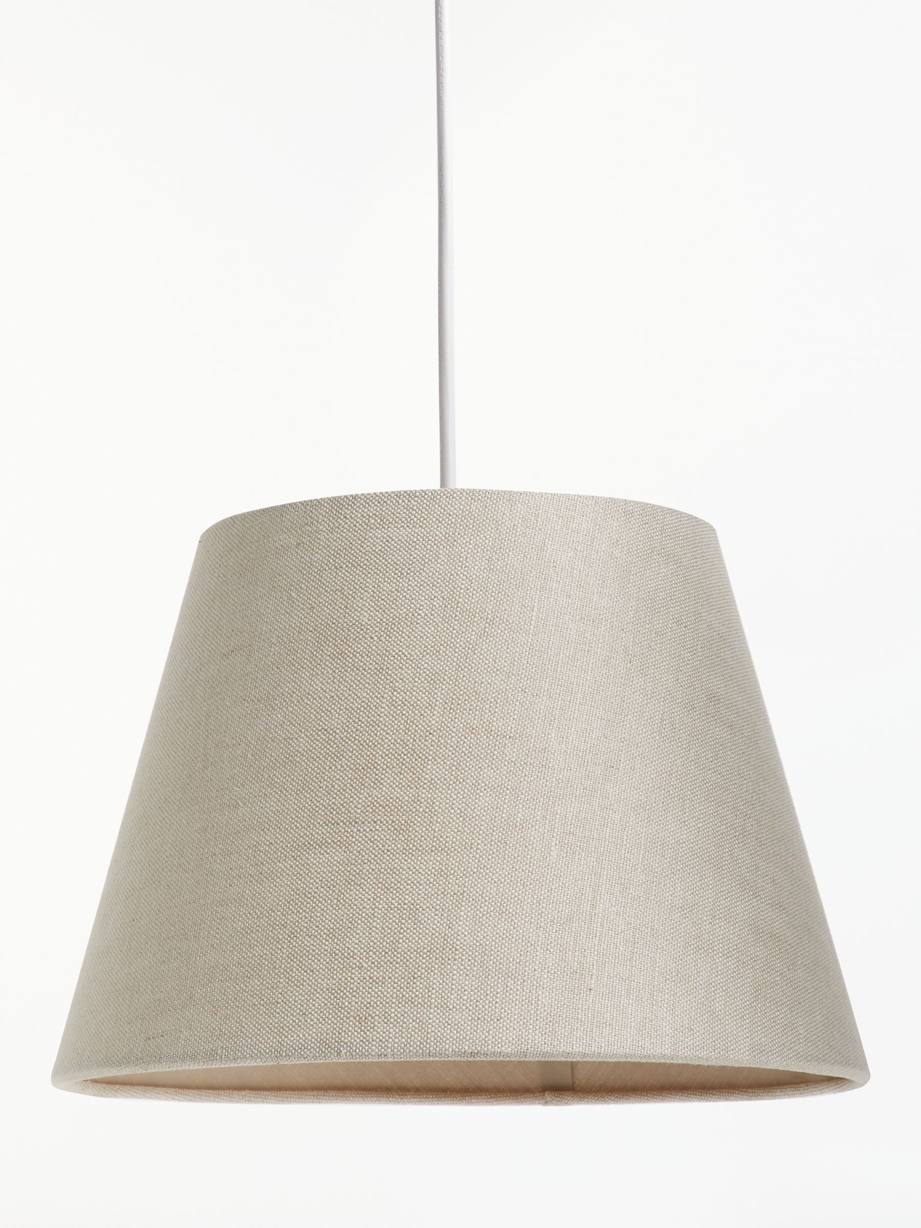 John Lewis Partners Sophia Pure Linen Tapered Lampshade Natural Pure Products Lamp Shades Ceiling Lamp Shades