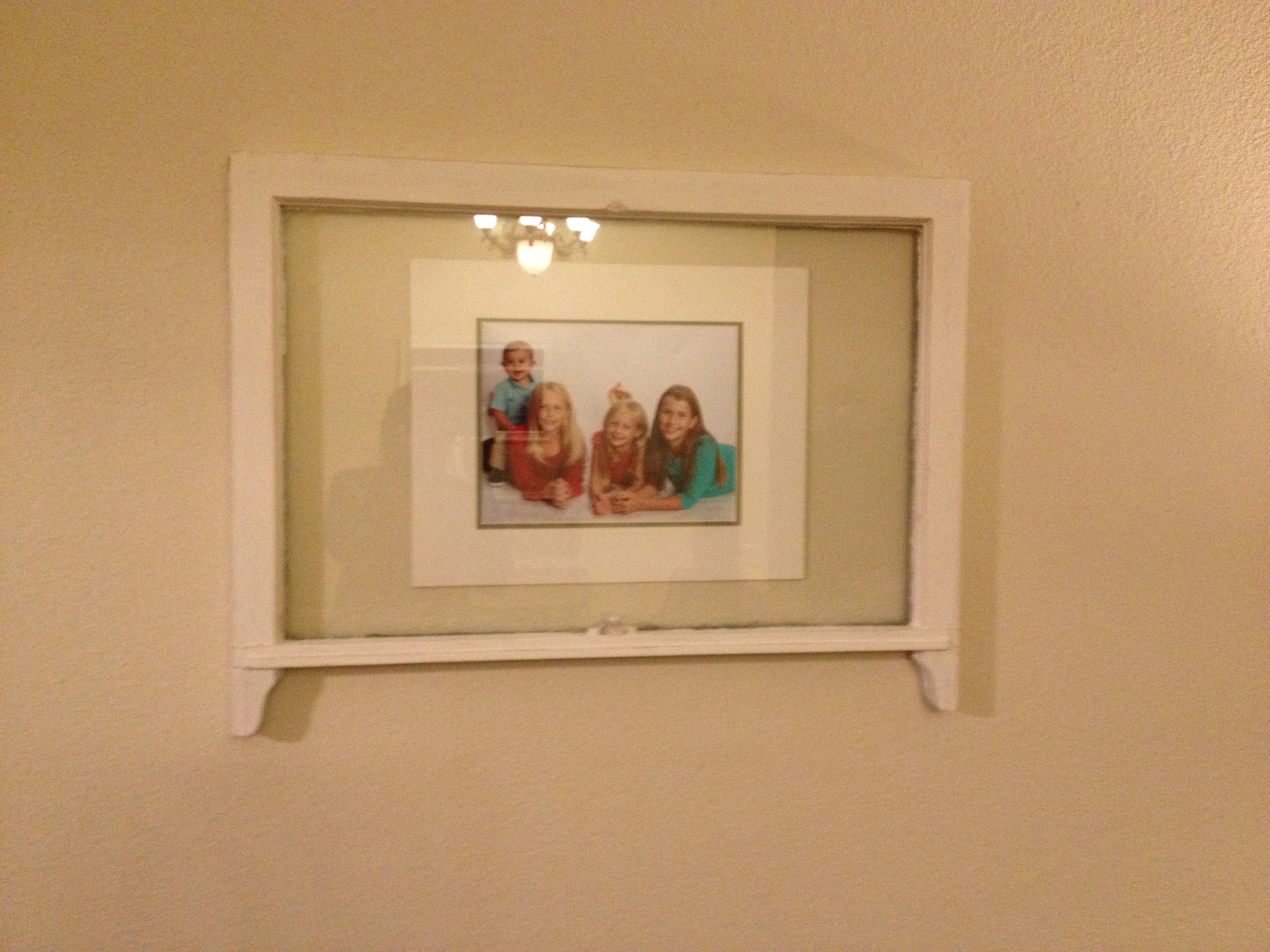 upcycled an old window frame i found at a second hand shop painted