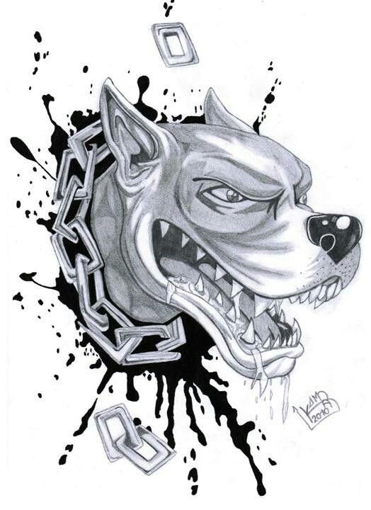 Pitbull Pitbull Tattoo Pitbull Drawing Dog Sketch