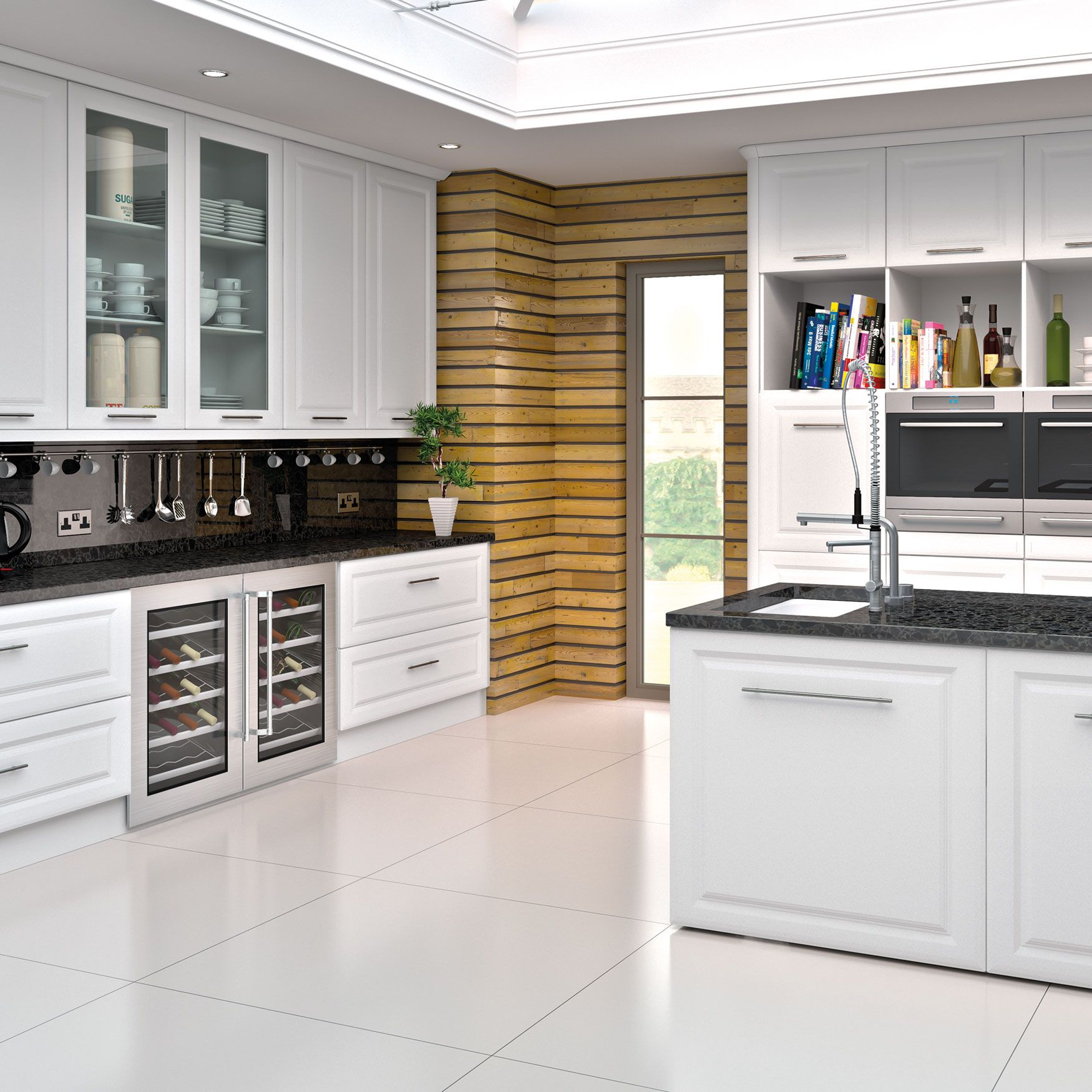 Noted For Its Sleek Contemporary Design And Versatility The York Style Is An Ideal Choice For White Contemporary Kitchen New Kitchen Doors Kitchen Cabinets Uk