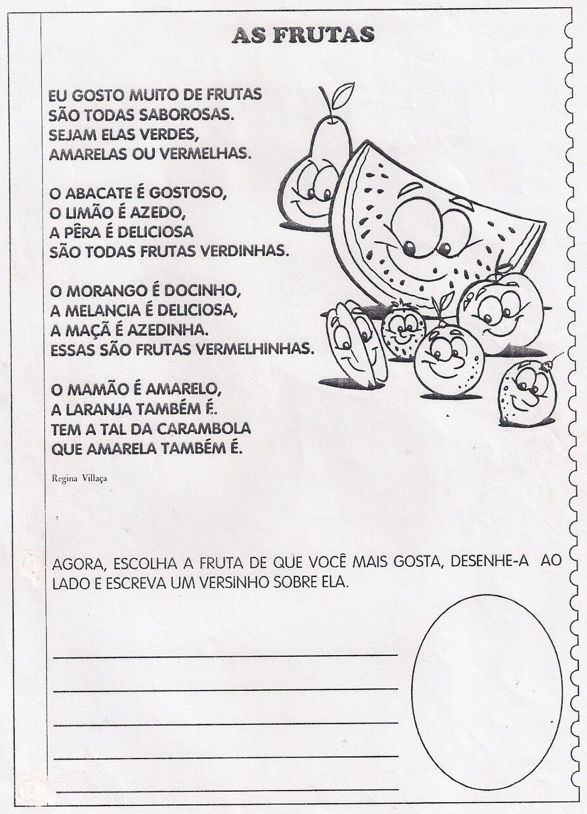 Suficiente s. martinho atividades - Pesquisa Google   poemas de frutas  RS18