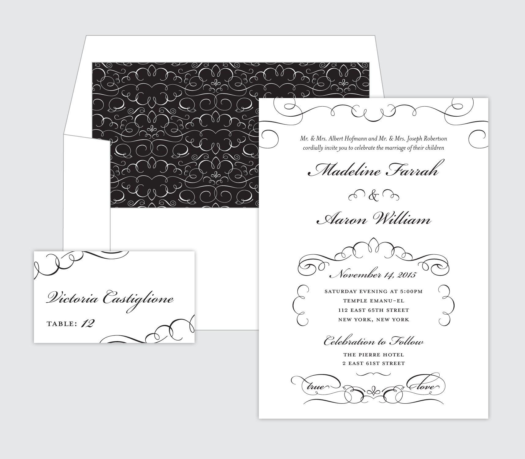 Black u white wedding inspiration
