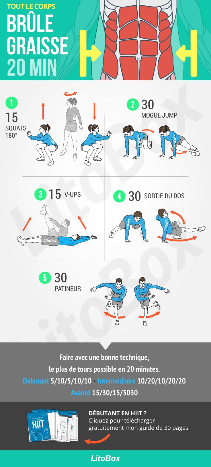 Bruler La Graisse En 20 Minutes A La Maison Pdf Muscler Abdos Exercices De Fitness Entrainement Boxe