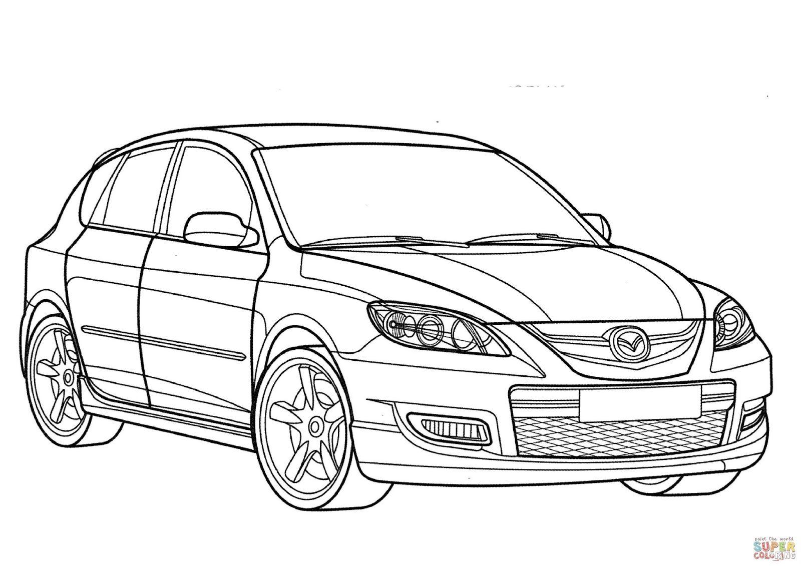 10 mewarnai gambar mobil sedan bonikids autos dibujos