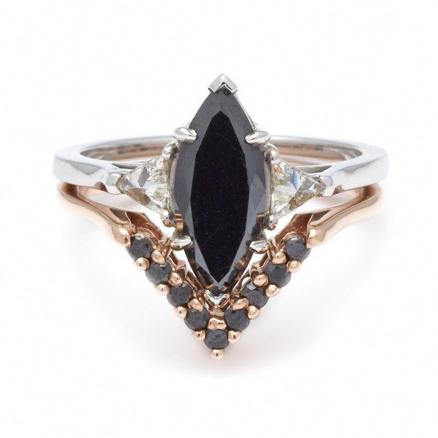 Bea suite no marquise black diamond bea ceremonial set with one