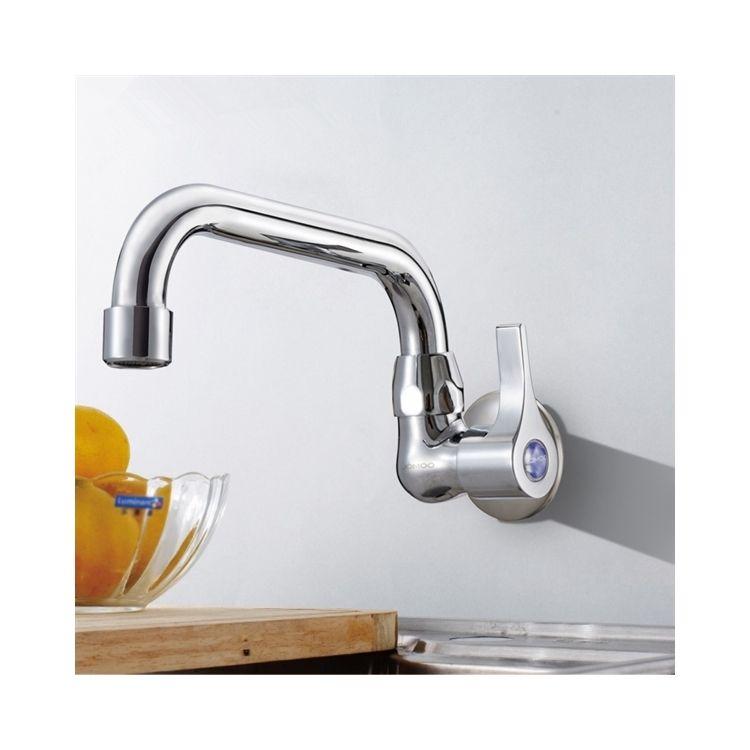 キッチン蛇口 台所蛇口 壁付水栓 単水栓 クロム 7714 238 蛇口