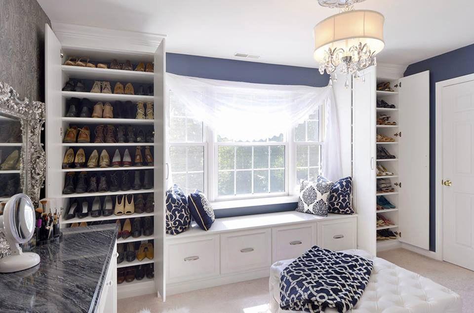Window Bench Seat Built In Shoe Wardrobes Custom Closet Storage Dressing Room Closet Build A Closet
