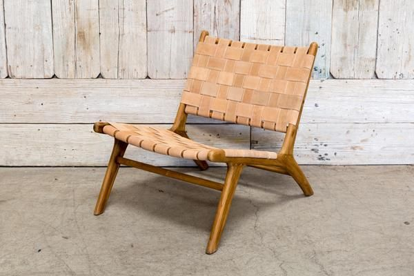 LEATHER WOVEN CHAIR