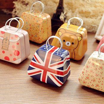 7418 península creativo de almacenamiento portátil mini caja de lata pequeña caja de moneda de la historieta linda del caramelo(China (Mainland))