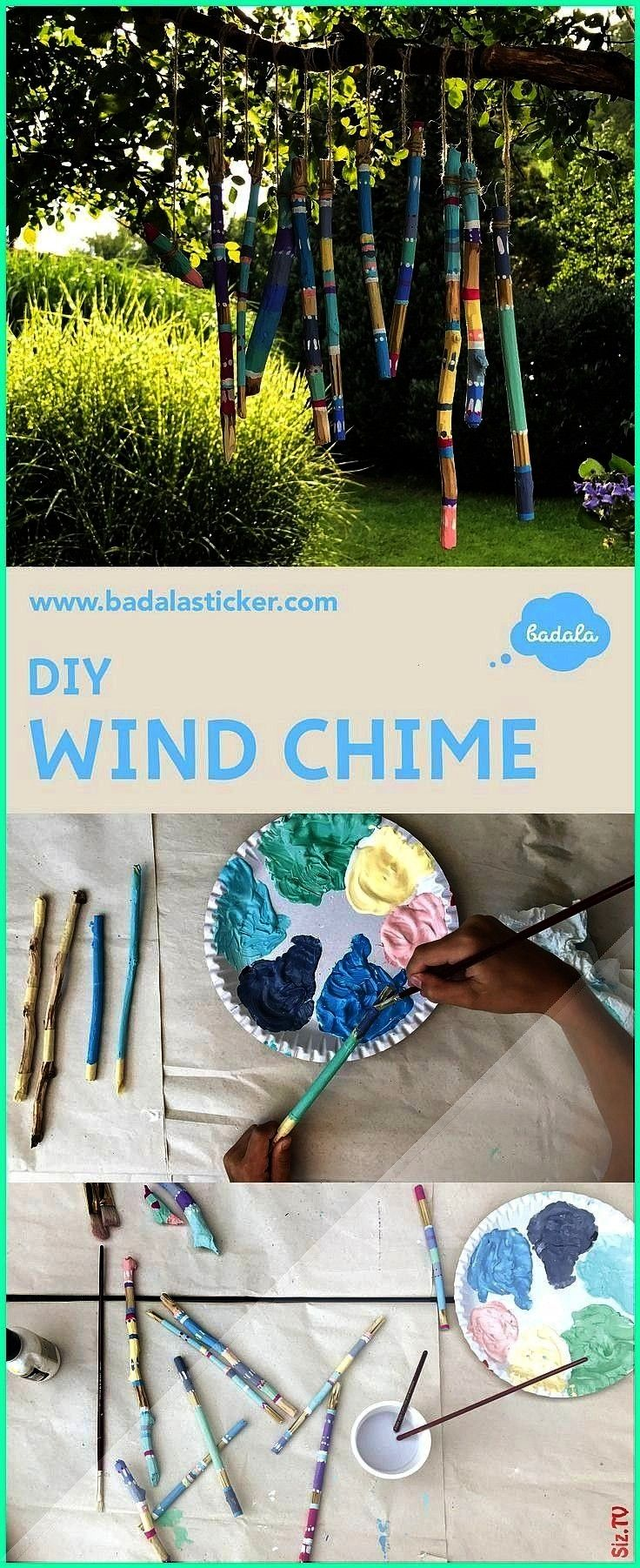 chime enjoy the time when your kids are busy with it Wind chime from wooden sticks that wood surfaces remain free wrap the s An easy wind chime enjoy the time when your k...