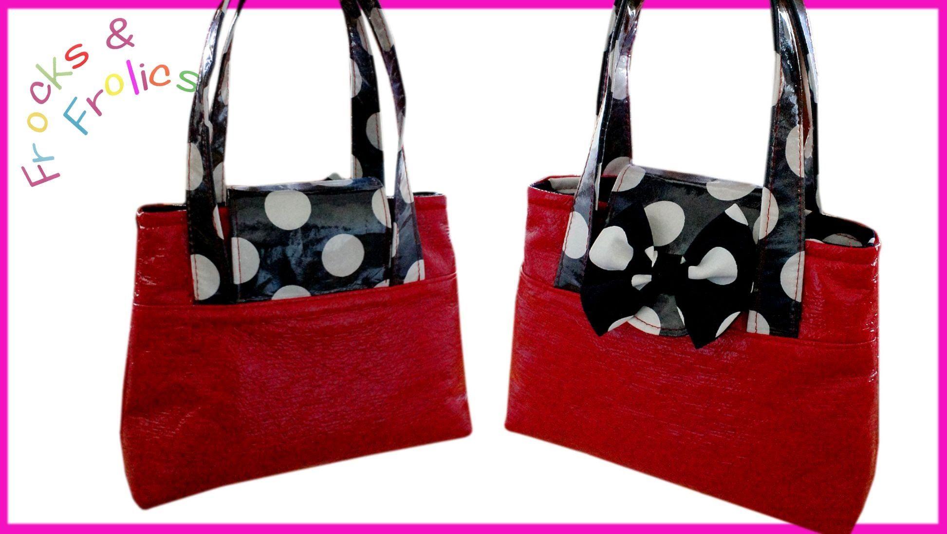 Wie man eine Handtasche näht - Knallrote Tasche \'Mary Lou\' | Taschen ...